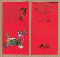 BCC Chinese New Year 'GREAT EASTERN' 2/2 YEAR Of The DOG CHINOIS Red Pockets Red CNY 2018! - Cartas Perfumadas