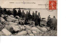 CP CARNAC 1914-1915 Prisonniers Boches Sur La Plage - Carnac