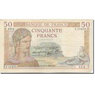 France, 50 Francs, Cérès, 1933, 1939-11-09, TB+, Fayette:18.34, KM:85b - 1871-1952 Antichi Franchi Circolanti Nel XX Secolo