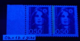YT N° 2619a - Sans Phosphore Tenant à 1 Bande Ga Signé Calves - Neufs ** - Cote Maury: 25,00 € - 1989-96 Bicentenial Marianne