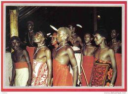 Carte Postale Afrique Kénya  Guerriers Masaï Moran Dancing Trés Beau Plan - Kenya