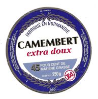 ETIQUETTE De FROMAGE Cartonnée..CAMEMBERT Fabriqué En NORMANDIE (Orne 61-C)..Ed - Quesos