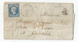 SAVOIE N°14 TTB  PC 4201 TYPE BEAUFORT S DORON 8 FEVR 1862 LETTRE + BOITE A HAUTELUCE INDICE 18 - 1849-1876: Période Classique