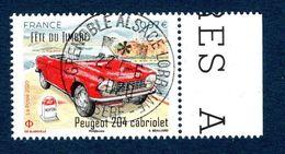 France 2020. Fête Du Timbre. Peugeot 204 Cabriolet.Cachet Rond.Gomme D'origine. - Oblitérés