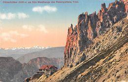 "010783 ""TIROLO - COLNERHUTTEN 2925 M. AM SUD WESTHANGE DES ROSENGARTENS"" PANORAMA. CART NON SPED - Autriche"