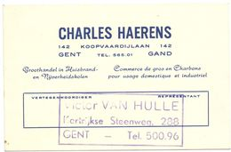 Visitekaartje - Carte De Visite - Groothandel I Kolen Charles Haerens - Gand - Gent - Cartes De Visite