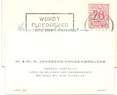 Visitekaartje - Carte De Visite - Mr & Mme M. Janssens - Vandenbroucke - Gent + Enveloppe - Cartes De Visite