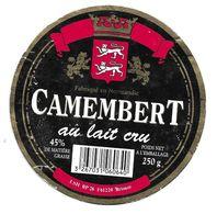 ETIQUETTE De FROMAGE Cartonnée..CAMEMBERT Fabriqué En NORMANDIE..LSH à BRIOUZE ( Orne 61) - Quesos