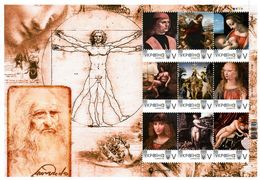 Ukraine 2020, Painting, Leonardo Da Vinci, Sheetlet Of 9v - Ucrania