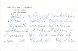 Visitekaartje - Carte De Visite - Refuge De L'Abbaye Audenarde - Oudenaarde - Cartes De Visite