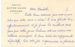 Visitekaartje - Carte De Visite - Devotie , Devotion - Soeur Jeanne Marie - Institut Notre Dame Charleroi - Cartes De Visite