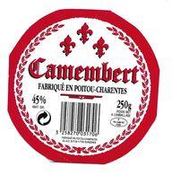ETIQUETTE De FROMAGE Cartonnée..CAMEMBERT Fabriqué En POITOU CHARENTES..GLAC à SURGERES (17) - Quesos