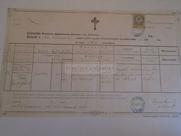 D172627 Old Document - KISTERENYE  Kis-Terenne  - Nógrád - 1887 - Sarolta Zaribniczki  - Janausek - Nacimiento & Bautizo