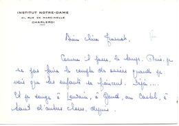 Visitekaartje - Carte De Visite - Devotie , Devotion - Soeur  Marie - Institut Notre Dame Charleroi - Cartes De Visite