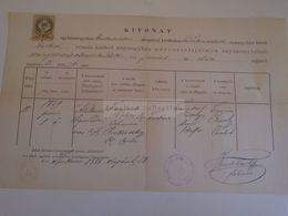 D172630 Old Document - Túrkeve - Jász-Nagykun-Szolnok - Adalbertus Holczer (1859)  - Kelt 1888 - Nacimiento & Bautizo