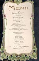 CPA FRANCE 1907 - MENU DE DEJEUNER - - Recetas De Cocina