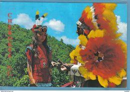 Carte Postale Etats-Unis  Indiens Cherokee  Chef De Tribu Passant Le Pouvoir Très Beau Plan - Etats-Unis