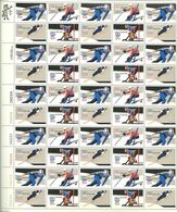 USA 1980 Winter Olympic Games, Lake Placid, Ski Jumping, Hockey, Skating, Slalom Mi 1411-1414 In Full Sheet 50 , MNH(**) - Etats-Unis