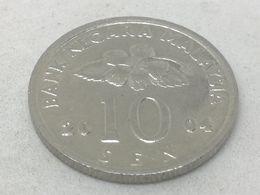 Moneda 2004. 10 Sen. Malasia. KM 51. MBC - Malaysie
