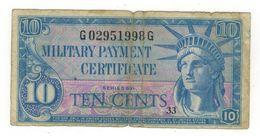 U.S.A. MPC. 10 Cents , Series 591 (1961-64) F. - Certificati Di Pagamenti Militari (1946-1973)