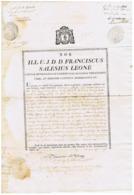 PALERMO-  DIOCESI - DOCUMENTO AUTOGRAFO / AUTOGRAPH - ARCIDIACONO FRANCESCO LEONE - 1858 - Autographes