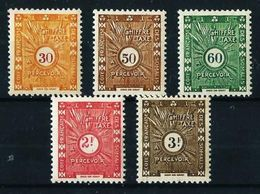 Somalia (Francesa) Nº Tasa-39/43 Nuevo* - Côte Française Des Somalis (1894-1967)