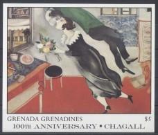 Grenada Grenadines - 1986 Marc Chagall Block (1) MNH__(TH-6615) - Grenada (1974-...)