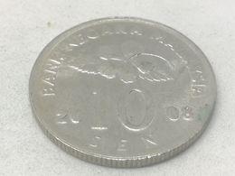 Moneda 2008. 10 Sen. Malasia. KM 51. MBC - Malaysie