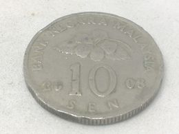 Moneda 2008. 10 Sen. Malasia. KM 51. MBC - Malaysia