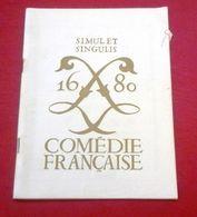 """Programme Comédie Française Septembre 1967 """"Cyrano De Bergerac"""" Edmond Rostand Jean Piat François Chaumette - Programas"""