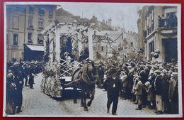 Carte Photo 88 SAINT DIE  Congres Des Pompiers  1927 Cavlcade Defilé Chars - Saint Die