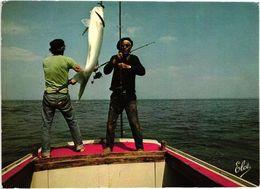 CÔTE ATLANTIQUE .. LA PECHE EN MER .. UNE BELLE PRISE  .. 1977 - Pesca