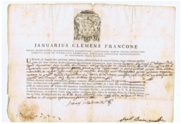 COSENZA - BOLLA VESCOVILE - VESCOVO / BISHOP - GENNARO CLEMENTE FRANCONE - ANNO 1788 - Autographes