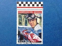 2005 SAN MARINO FRANCOBOLLO USATO STAMP USED FERRARI JOHN SURTEES 0,05 - Oblitérés