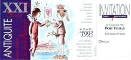 Peynet - Invitation Salon D'Antibes 1993 - Peynet