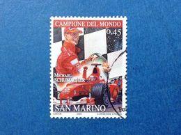 2005 SAN MARINO FRANCOBOLLO USATO STAMP USED FERRARI MICHAEL SCHUMACHER 0,45 - Oblitérés
