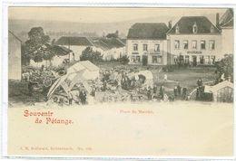 Souvenir De Pétange Place Du Marché Hôtel Weis Ackels J.M.Bellwald - Pétange