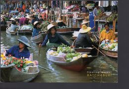 REF 506 CPM Thailande Marché Flottant - Tailandia
