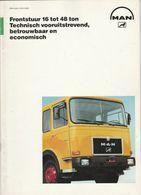 Brochure-leaflet: MAN-VW Truck & Bus B.v. Vianen (NL) München (D) Frontstuur 24.361 FNL 40.440 DF - Trucks