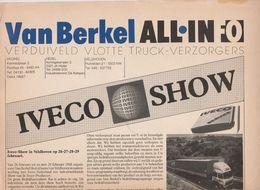 Brochure-leaflet: Van Berkel Veghel-hedel-veldhoven (NL) IVECO-show - Trucks