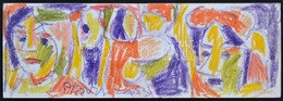 Cs. Németh Miklós (1934-2012): Lányok, Pasztell, Karton, Jelzett, 14×41 Cm - Non Classés