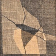 Orient Enikő (1953-): Villanás. Vászonkép, Hátoldalán Jelzett (Orient Enikő 90'), 22×22 Cm - Non Classés