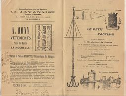 """Charente, La Rochelle """"Le Petit Facteur"""" 12 P., Bulletin Mensuel De L'Orphelinat De Guerre 1929 - Documents Historiques"""