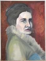 Petrencsik Olívia (?-): Női Portré. Olaj, Vászon. 40x30 Cm - Non Classés