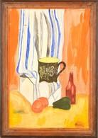 Pittner Jelzéssel:Asztali Csendélet. Akvarell, Papír, Keretben, 50×32 Cm - Non Classés