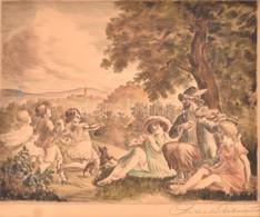 Prihoda István (1891-1956): Zene és Tánc A Szabadban. Rézkarc, Papír, Sérült, Jelzett, Paszpartuban, 25×31,5 Cm - Non Classés