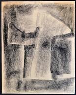 Rácz András (1926-2013): Kompozíció. Grafit, Papír, Jelzett, 24x19 Cm - Non Classés
