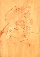 Rónai Jelzéssel: Hölgyportré. Karton, Akvarell, 40x28 Cm - Non Classés