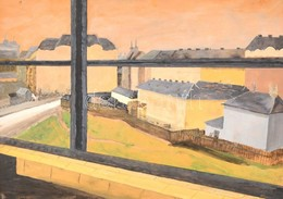 Sárdi 1938 Jelzéssel: Budapesti Részlet. Akvarell, Karton, Sérült Fa Keretben, 44×62 Cm - Non Classés