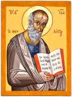 Szent János, Orthodox Ikon, Tojástempera, Fa, Jó állapotban, 40×30 Cm - Non Classés